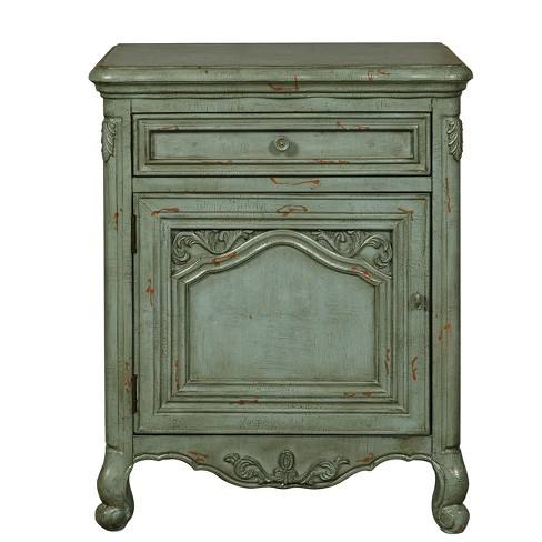 Bethel Distressed Ornate Accent Door Chest Green - Pulaski - image 1 of 5