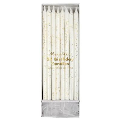 Meri Meri - Gold Glitter Candles - Cake Candles - 24ct