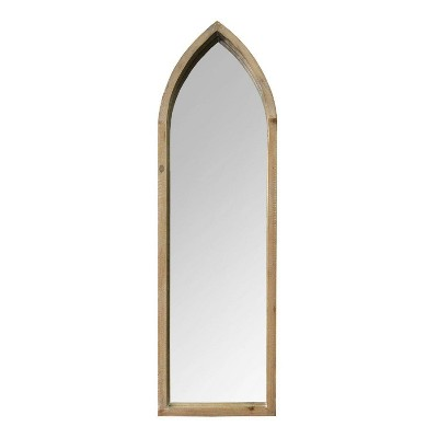 "10.24"" x 34.06"" Cecilia Wall Mirror Natural - Stratton Home Décor"