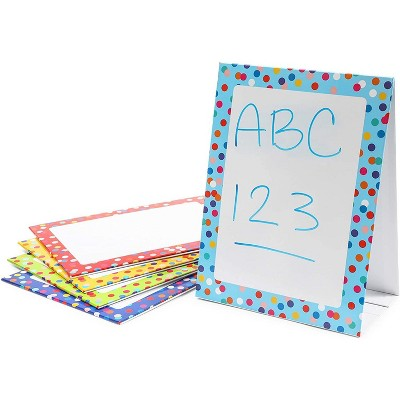 Bright Creations 5-Pack Dry Erase Standing Easel Boards Whiteboard Lapboard for Kids, Classrooms