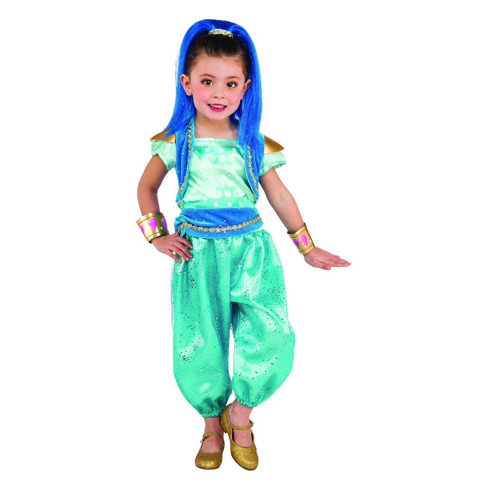 Toddler Girls' Shimmer and Shine Shine Halloween Costume 3T-4T, Multicolored
