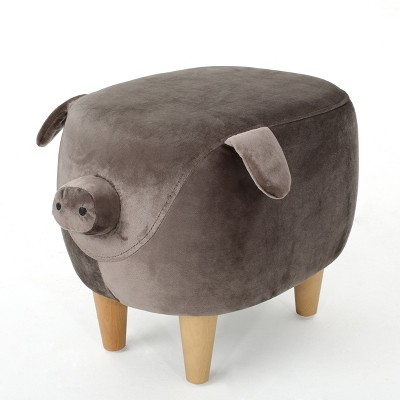 Burton New Velvet Pig Ottoman Dark Taupe - Christopher Knight Home