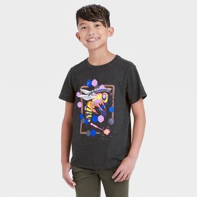 Boys' Swarming Bumblebee Graphic Short Sleeve T-Shirt - Cat & Jack™ Black