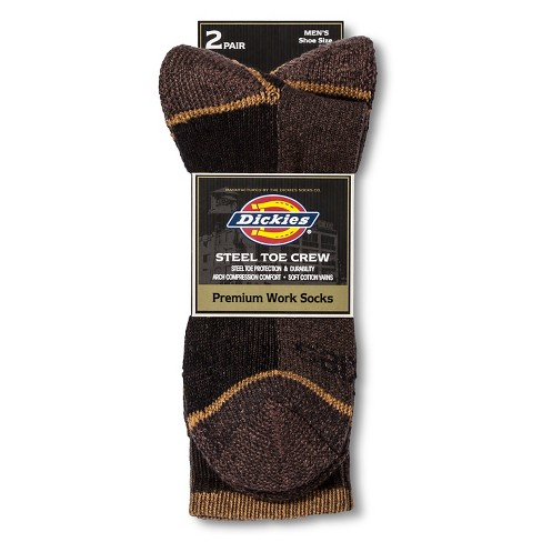 Dickies® Men's 2pk Steel Toe Cotton Crew Socks - image 1 of 1