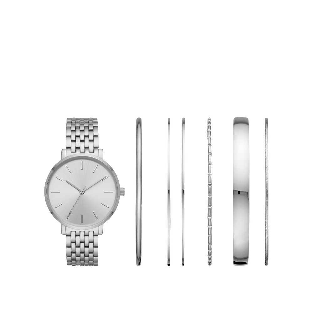 Image of Women's Bracelet Watch Set - A New Day Silver, Size: Small