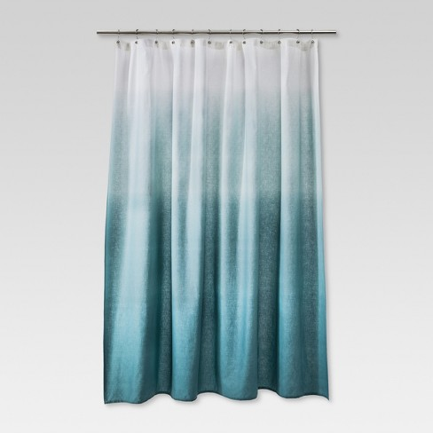 Ombre Shower Curtain Teal - Threshold™ - image 1 of 2