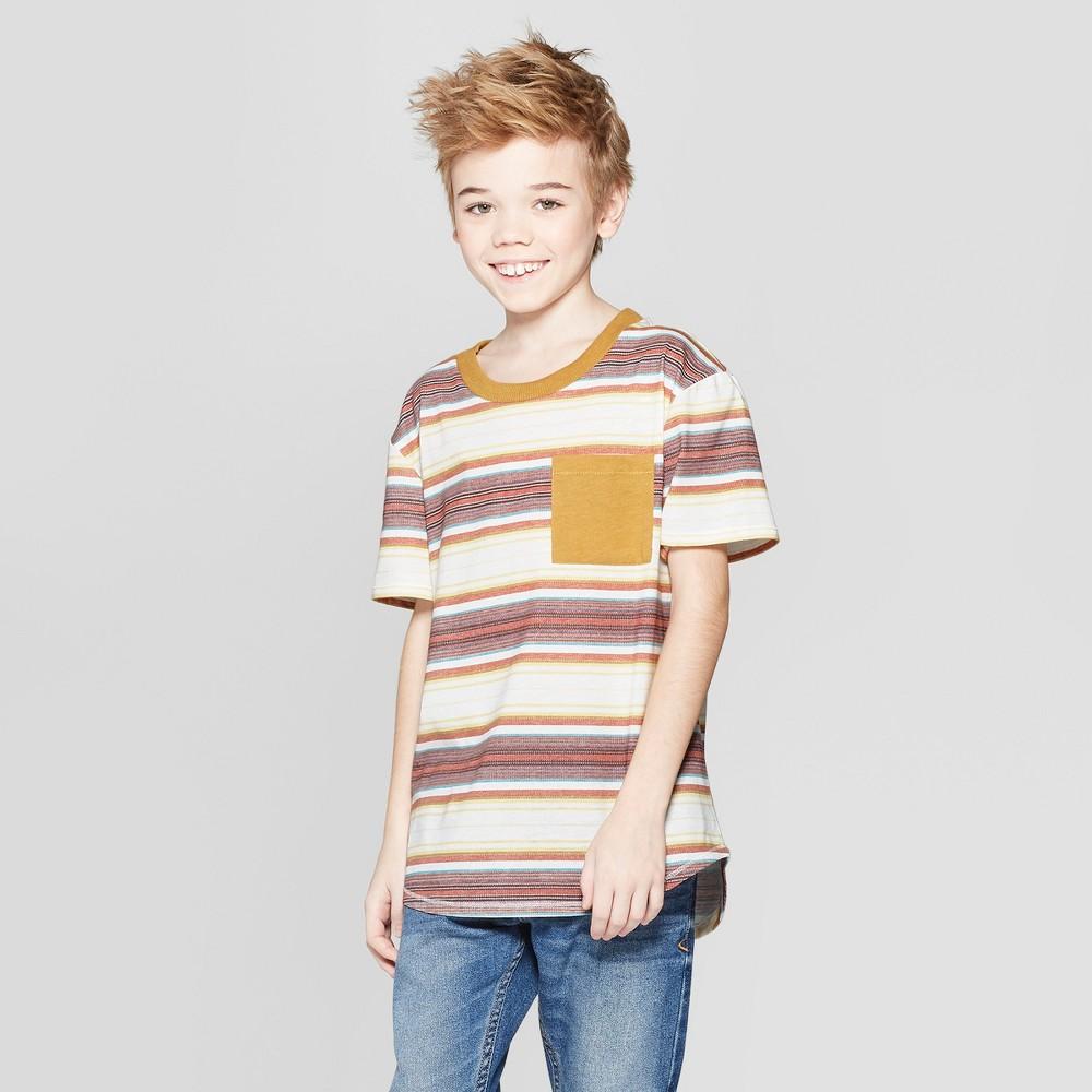 Boys' Short Sleeve Stripe T-Shirt - art class Xxl, Brown