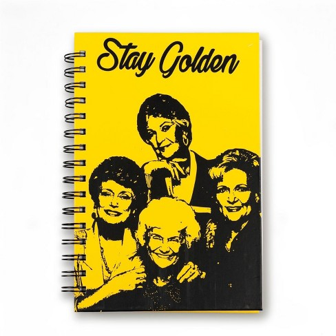 "Just Funky Golden Girls ""Stay Golden"" Spiral Notebook 