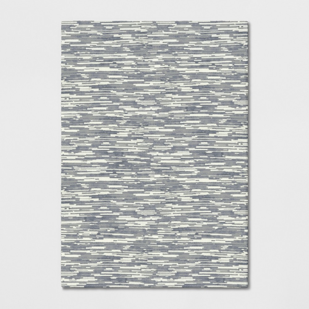 7'x10' Wave Tufted Area Rug Gray - Project 62