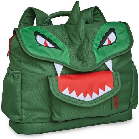"""Bixbee 10"""" Kids' Dino Backpack - Green - image 1 of 3"""