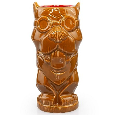ThinkGeek, Inc. Geeki Tikis Fallout Dogmeat Mug | Crafted Ceramic | Holds 14 Ounces