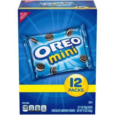 Oreo Mini Chocolate Sandwich Cookies - Snack Pack - 12oz / 12ct