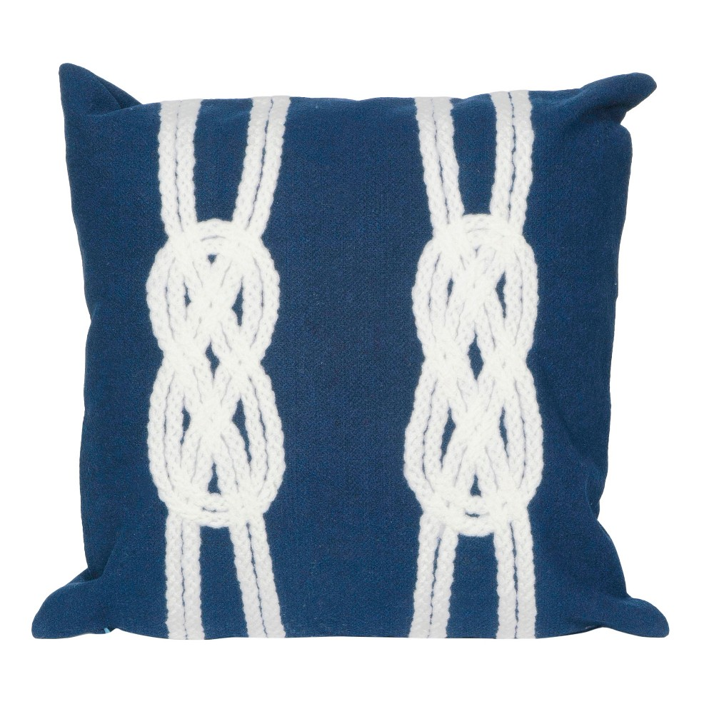 20 34 X20 34 Oversize Double Knot Square Throw Pillow Navy Liora Manne