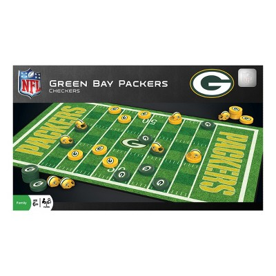 Masterpieces NFL Checkers Game - Green Bay Packers