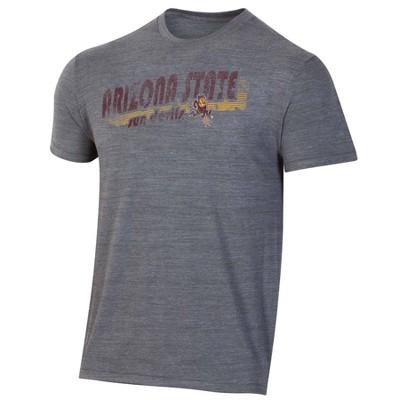 NCAA Arizona State Sun Devils Men's Short Sleeve Gray T-Shirt