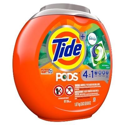 Tide PODS Laundry Detergent Pacs with Febreze Botanical Rain - 61ct
