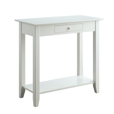 American Heritage Hall Table with Drawer/Shelf White - Breighton Home
