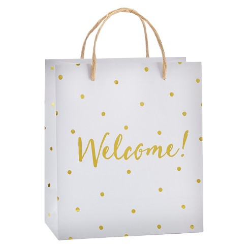 12ct Gold Foil Dot Welcome Gift Bag - image 1 of 1