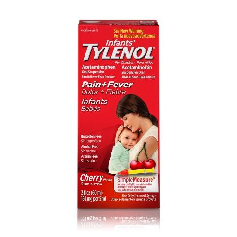 Infant Tylenol  Pain Reliever Cherry 2 fl oz - image 1 of 4