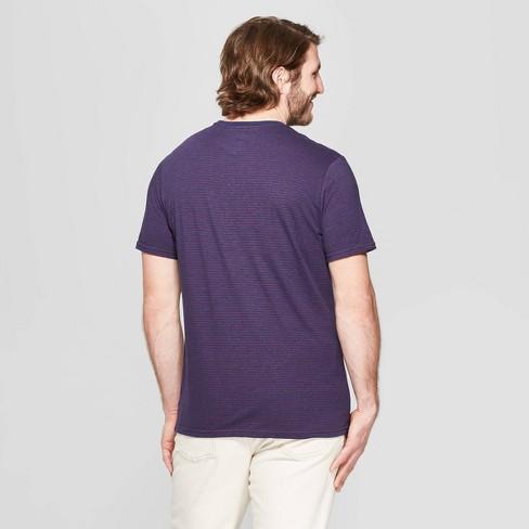76e843c03 Men's Big & Tall Pinstripe Standard Fit Short Sleeve Novelty T-Shirt -  Goodfellow & Co™