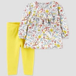 Baby Girls' Floral Tunic Top & Bottom Set - Just One You® made by carter's Yellow