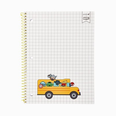 Spiral Notebook 1 Subject College Ruled Avenger Bus - Yoobi™