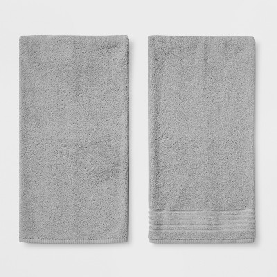 2pk Solid Bath Towel Set Gray - Room Essentials™