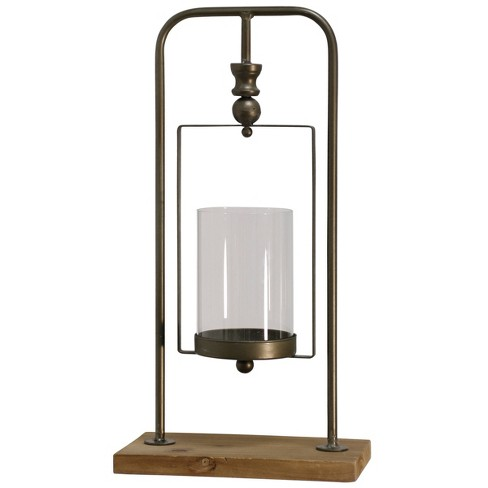 Hanging Glass Candle Holder Gold - StyleCraft - image 1 of 1