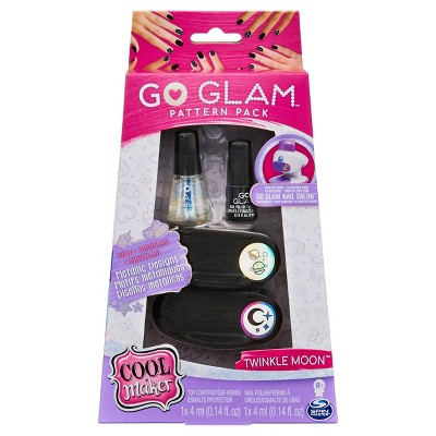 Cool Maker, GO GLAM Twinkle Moon Pattern Pack Refill with 2 Metallic Designs for Use with GO GLAM Nail Salon