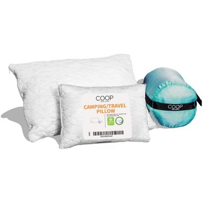 Coop Home Goods The Travel and Camping Pillow with Stuff Sack - Greenguard Gold Certified