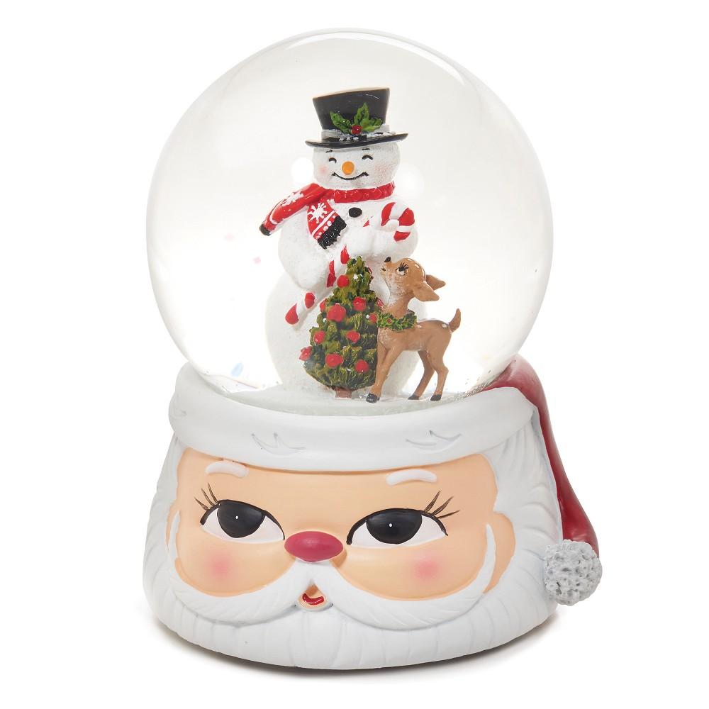 6 Snowman in Santa Musical Water Globe - Roman, Multi-Colored