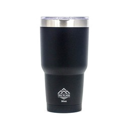 TruFlask Double Vacuum Insulated 30 oz Stainless Steel Travel Tumbler, Black