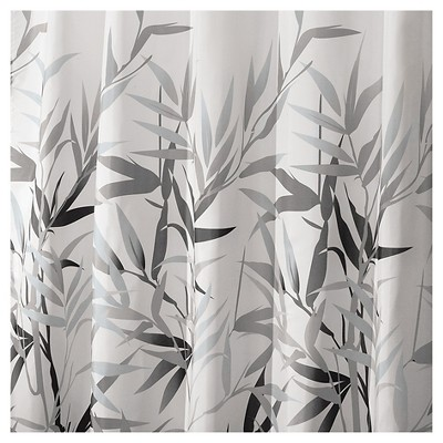 Leaf Shower Curtain Gray - iDESIGN
