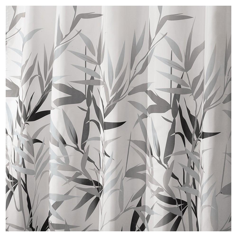 Image of InterDesign Anzu Polyester Shower Curtain, Gray/White