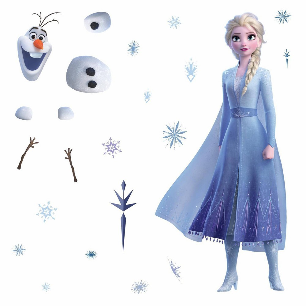 Image of Frozen 2 Elsa & Olaf Peel & Stick Giant Wall Decal - Roommates