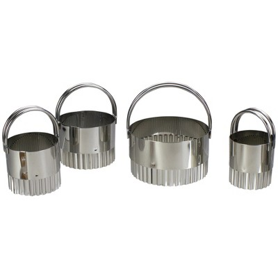 Northlight Set of 5 Stainless Steel Round Biscuit Cutters