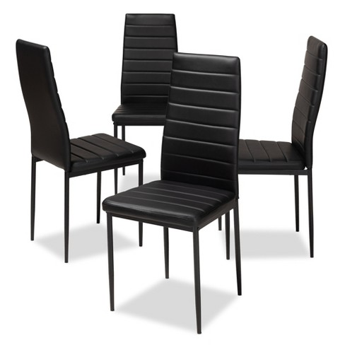 Armand Modern and Contemporary Faux Leather Upholstered Dining Chairs Set of 4 - Baxton Studio - image 1 of 4