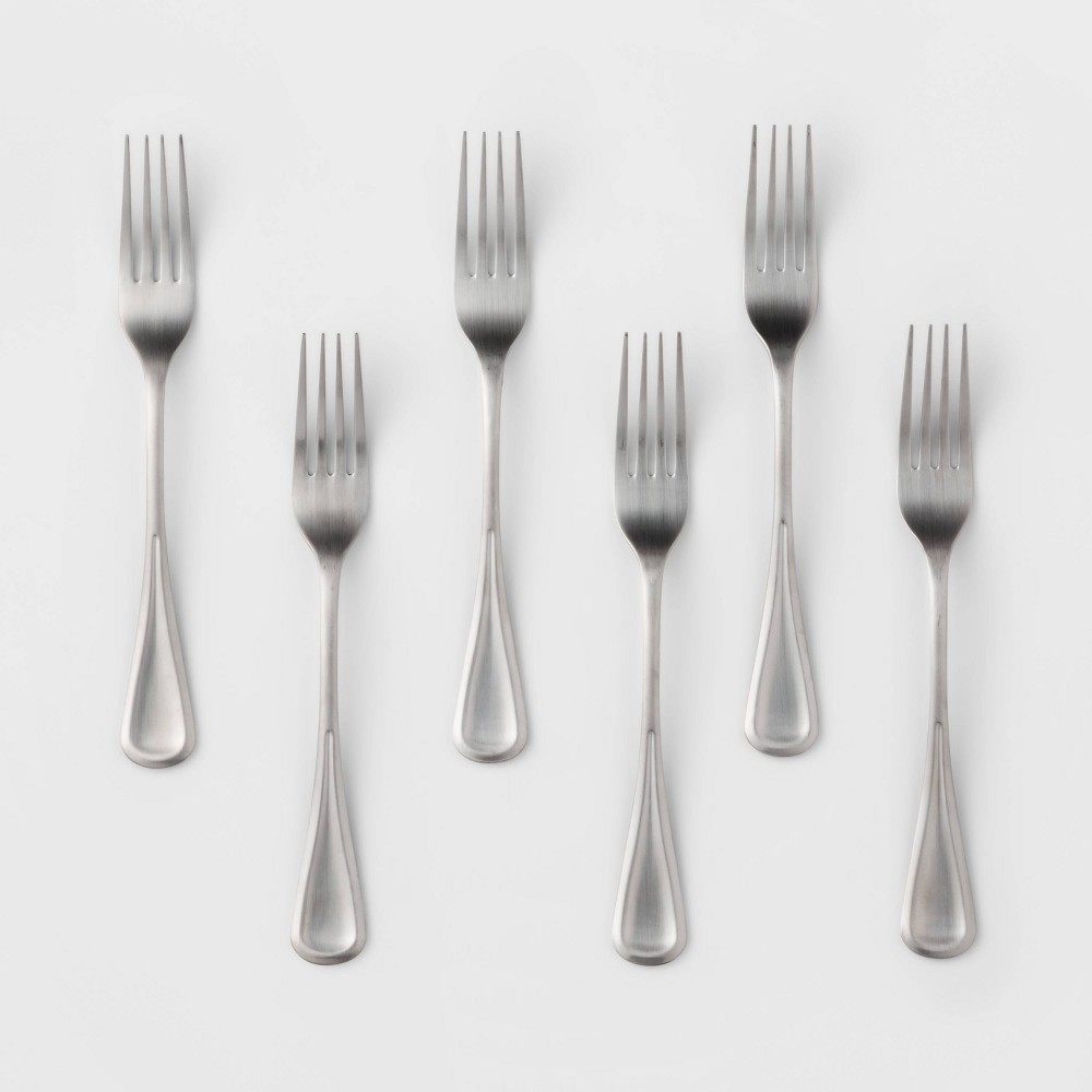 Image of 6pk Stainless Steel Olisa Satin Dinner Forks - Threshold