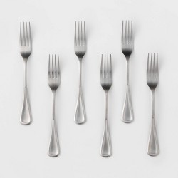 6pk Stainless Steel Olisa Satin Dinner Forks - Threshold™
