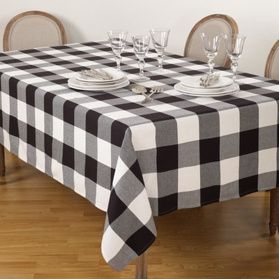 Black Plaid Kitchen Towel - Saro Lifestyle
