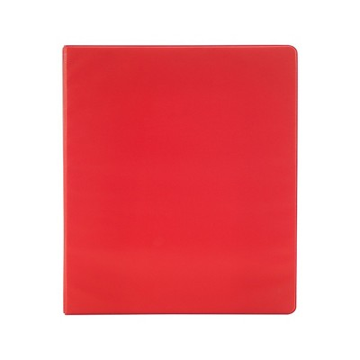 Staples Simply 1-Inch Round 3-Ring Binder Red (26647) 1337690