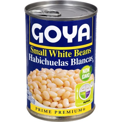 Beans: Goya Small White Beans Canned