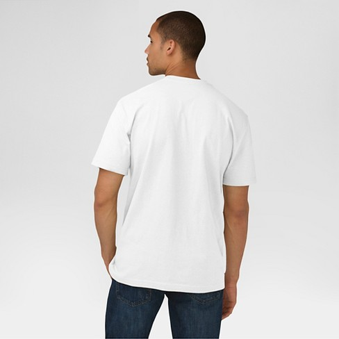 851719232 Dickies® Men's Big & Tall Cotton Heavyweight Short Sleeve Pocket T-Shirt-  White 5XL