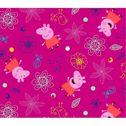 Peppa Pig Plays In Flowers Fabric - image 1 of 1