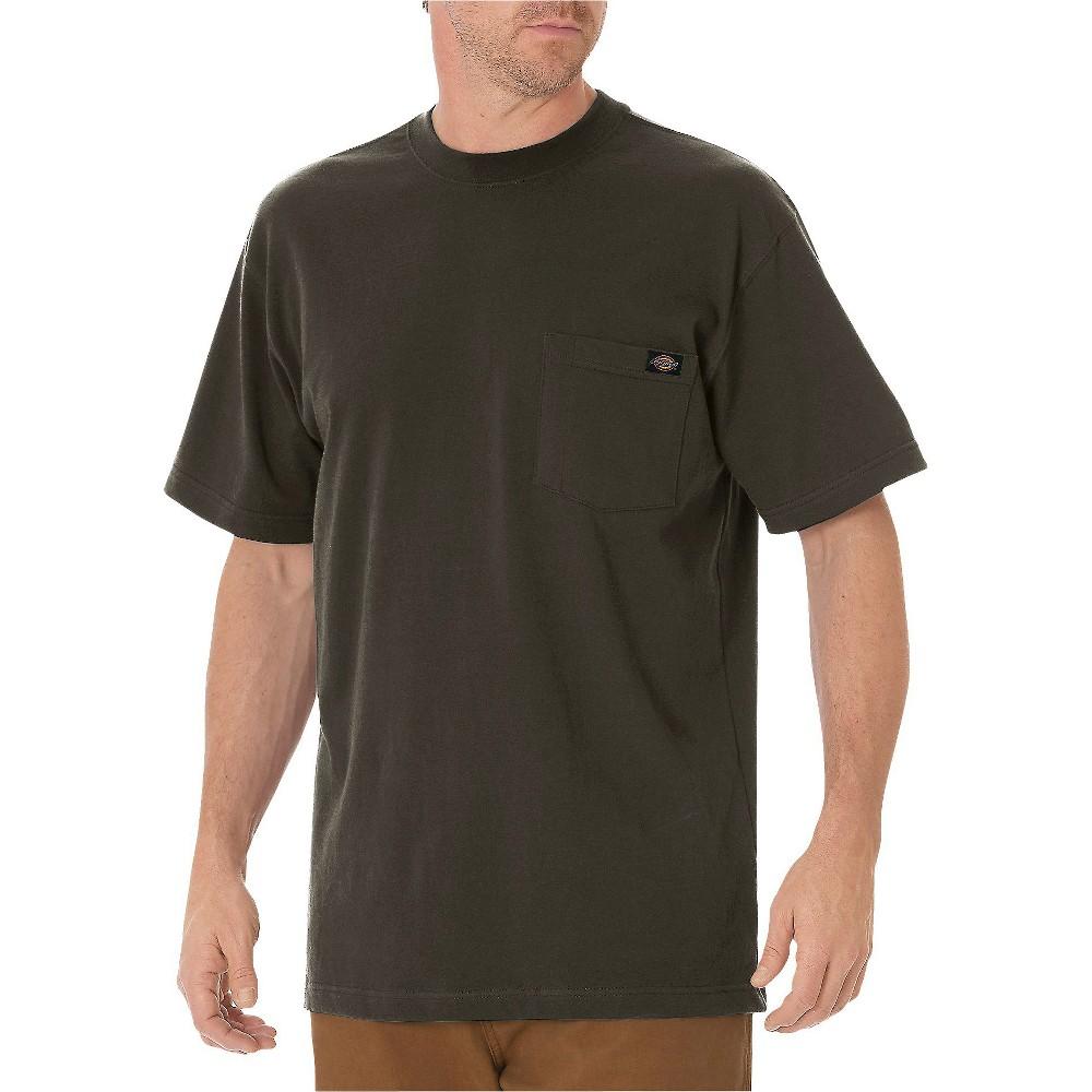 Dickies Men's Cotton Heavyweight Short Sleeve Pocket T-Shirt- Black Olive XL