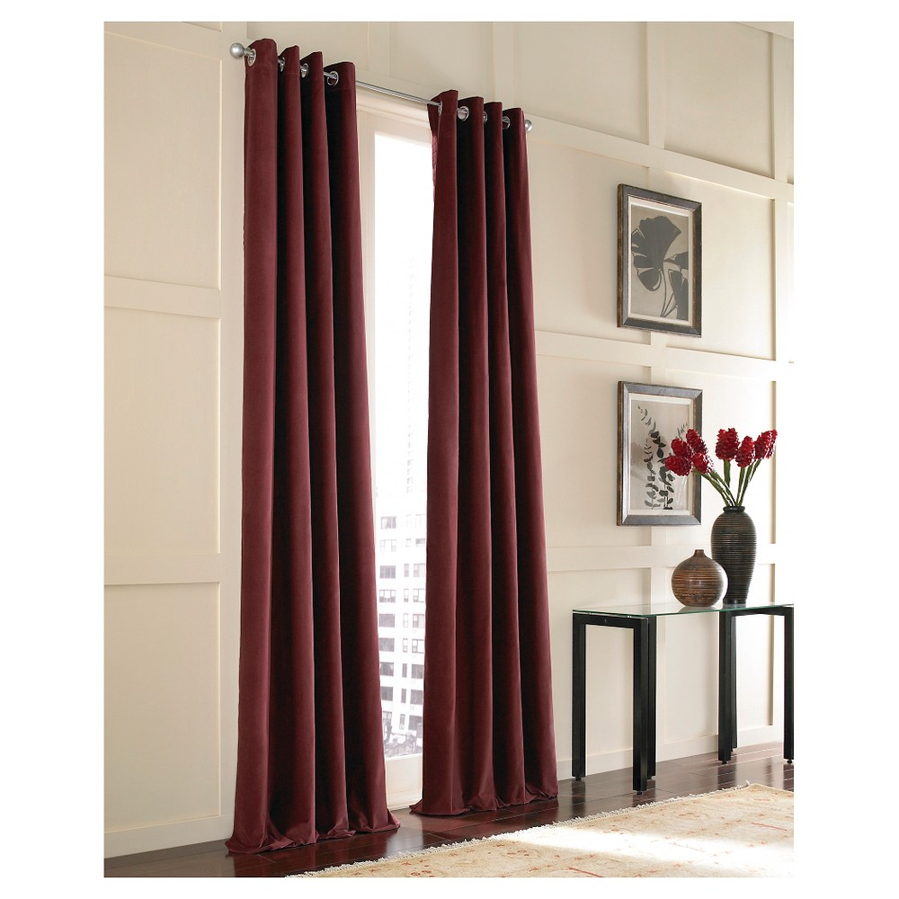 "Image of ""Curtainworks Messina Lined Curtain Panel - Bordeaux (108""""), Red"""