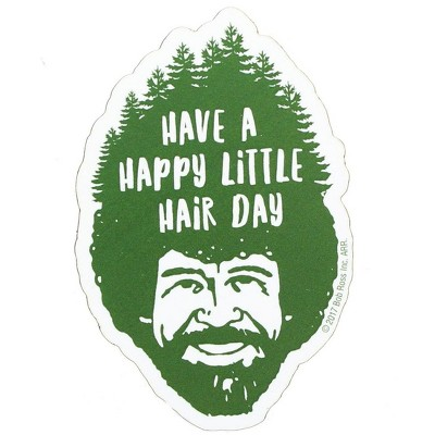 """NMR Distribution Bob Ross 3"""" Funky Chunky Magnet: """"Happy Little Hair Day"""""""