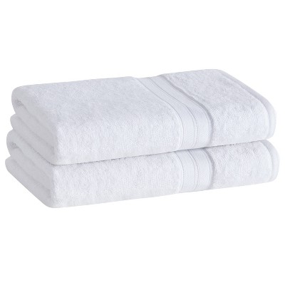 2pk Cotton Rayon from Bamboo Bath Towel Set White - Cannon