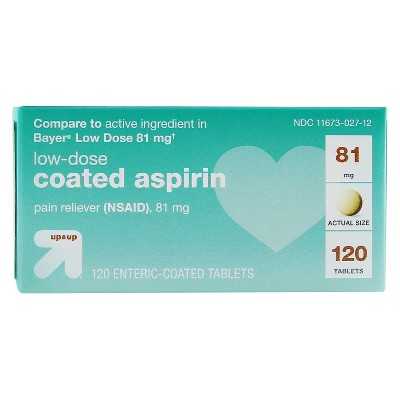 Low-Dose Aspirin Tablets (NSAID) - 120ct - up & up™