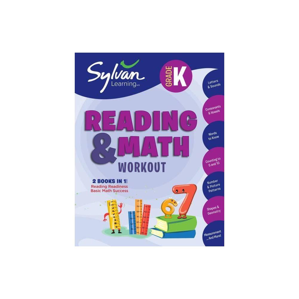Kindergarten Reading Math Workout Sylvan Beginner Workbook Paperback